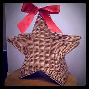 Star Shaped Basket with Bow